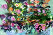 Autumn flowers, size 60×60 cm