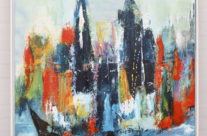 One minute, size 80×100 cm