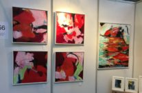 New red paintings, size 60×60 cm.